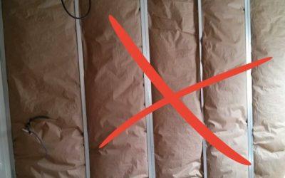 Défaut de mis en oeuvre isolation murs