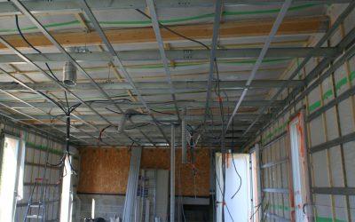 isolation de plafond en ouate de cellulose avec membrane freine vapeur